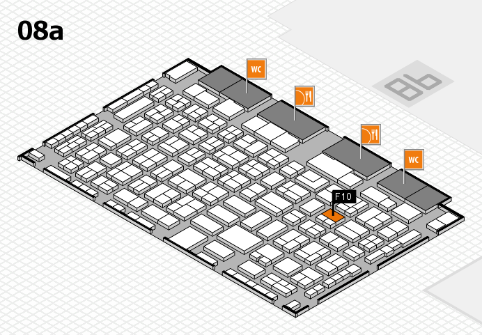 COMPAMED 2016 hall map (Hall 8a): stand F10