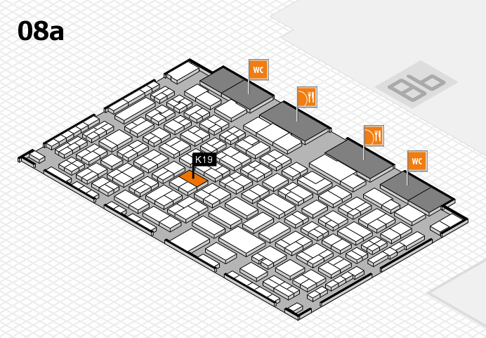 COMPAMED 2016 hall map (Hall 8a): stand K19