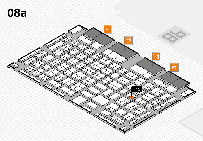 COMPAMED 2016 hall map (Hall 8a): stand E15