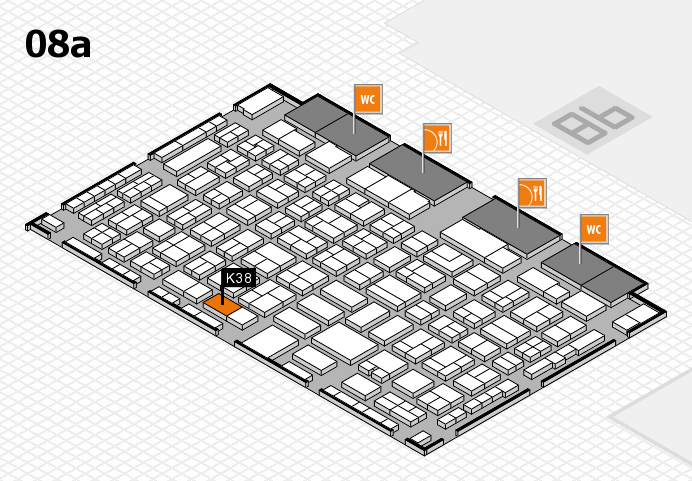 COMPAMED 2016 hall map (Hall 8a): stand K38