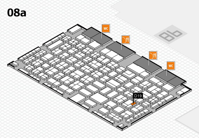 COMPAMED 2016 hall map (Hall 8a): stand D19