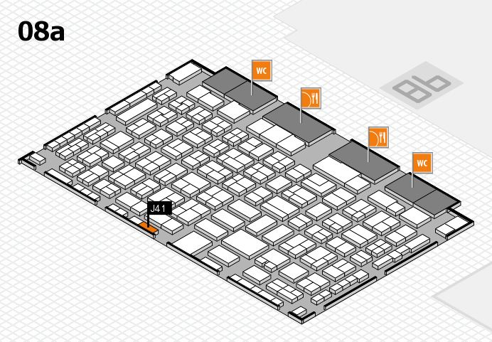 COMPAMED 2016 hall map (Hall 8a): stand J41