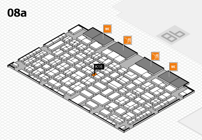 COMPAMED 2016 hall map (Hall 8a): stand K16