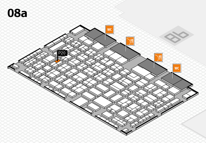 COMPAMED 2016 hall map (Hall 8a): stand P20
