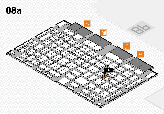 COMPAMED 2016 hall map (Hall 8a): stand F14