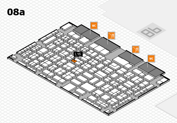 COMPAMED 2016 hall map (Hall 8a): stand L16
