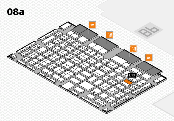 COMPAMED 2016 hall map (Hall 8a): stand E10