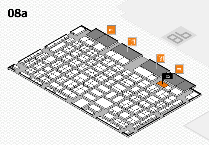 COMPAMED 2016 hall map (Hall 8a): stand F02