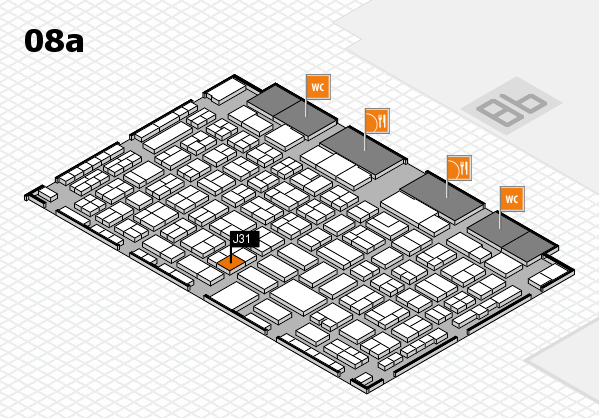 COMPAMED 2016 hall map (Hall 8a): stand J31