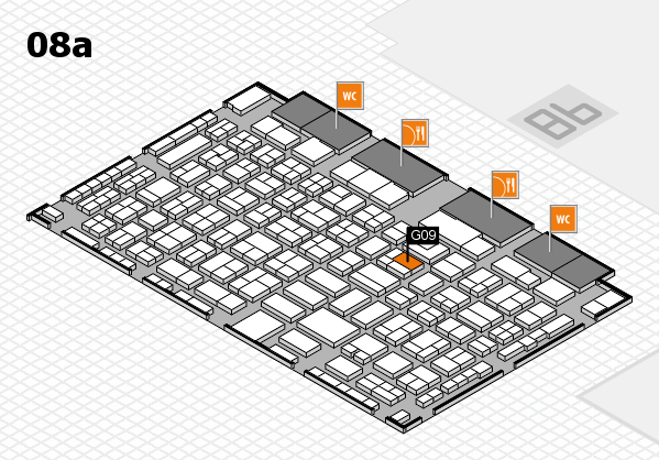 COMPAMED 2016 hall map (Hall 8a): stand G09