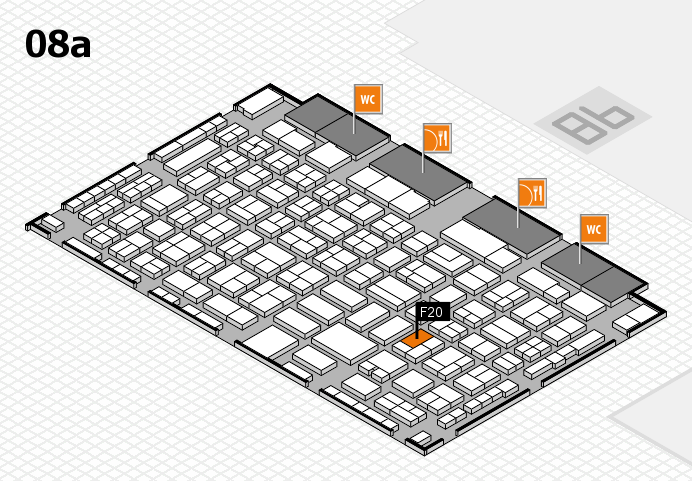 COMPAMED 2016 hall map (Hall 8a): stand F20