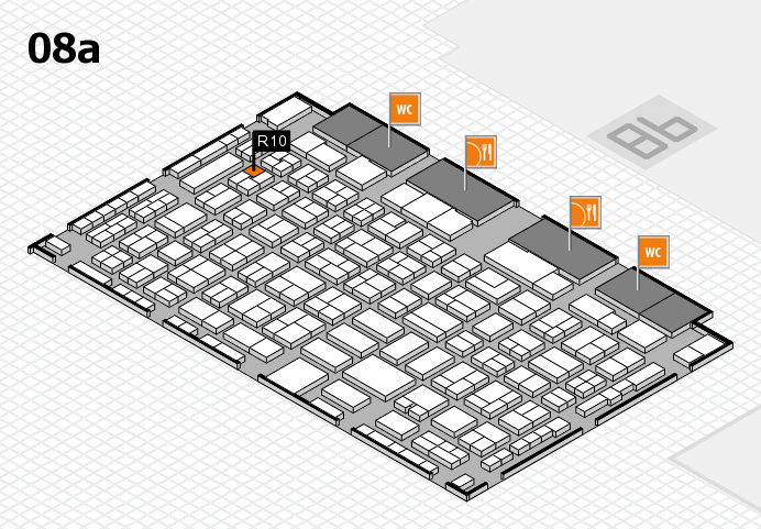 COMPAMED 2016 hall map (Hall 8a): stand R10