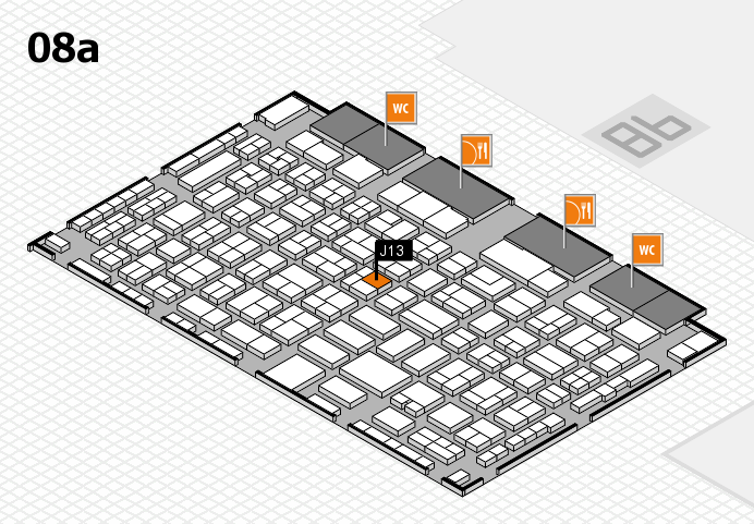 COMPAMED 2016 hall map (Hall 8a): stand J13
