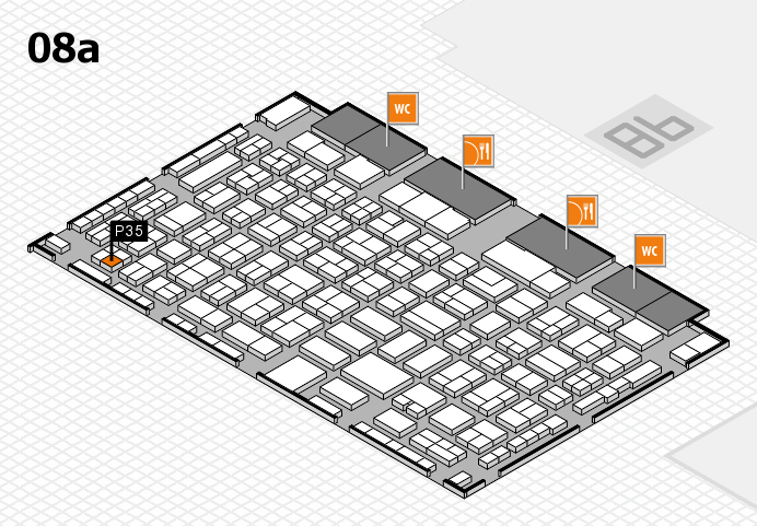 COMPAMED 2016 hall map (Hall 8a): stand P35