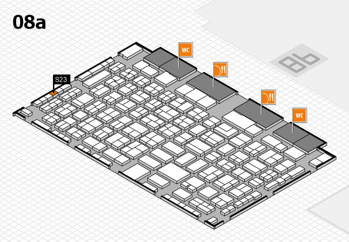 COMPAMED 2016 hall map (Hall 8a): stand S23
