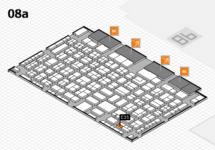 COMPAMED 2016 hall map (Hall 8a): stand E35