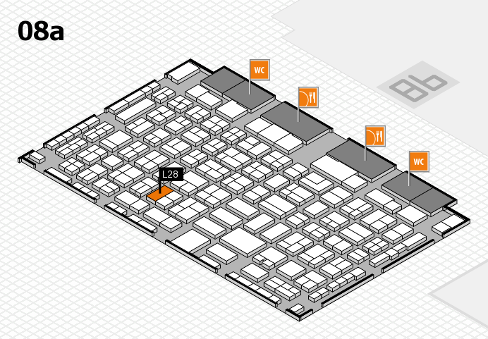 COMPAMED 2016 hall map (Hall 8a): stand L28