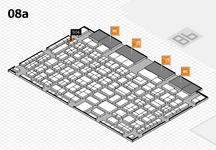 COMPAMED 2016 hall map (Hall 8a): stand S04