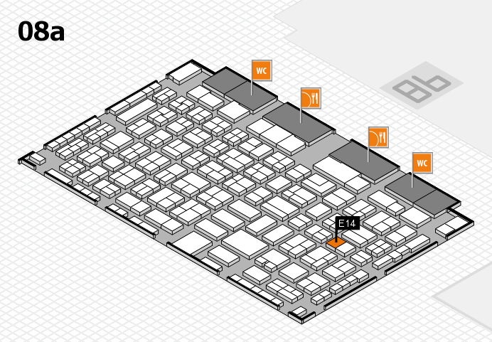 COMPAMED 2016 hall map (Hall 8a): stand E14