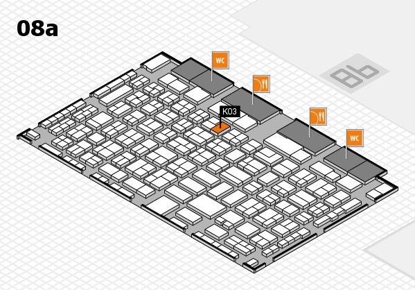 COMPAMED 2016 hall map (Hall 8a): stand K03