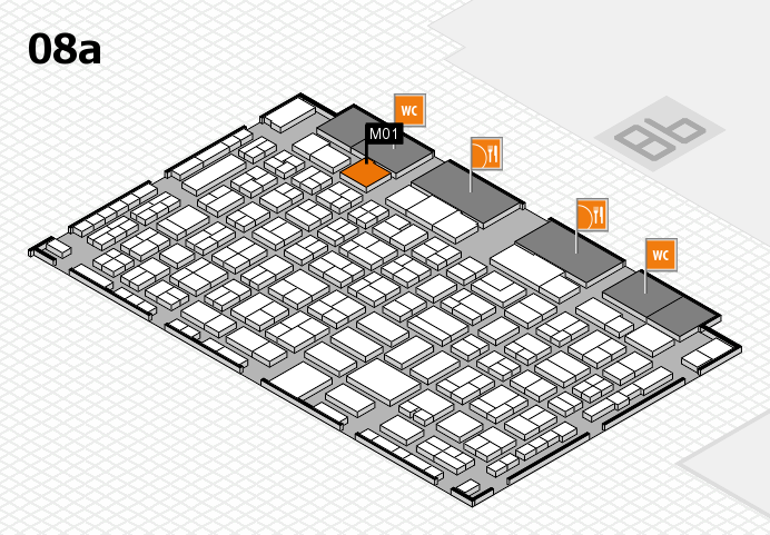 COMPAMED 2016 hall map (Hall 8a): stand M01