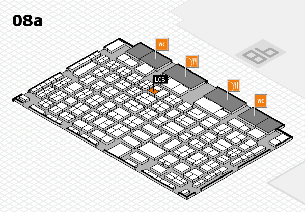 COMPAMED 2016 hall map (Hall 8a): stand L08