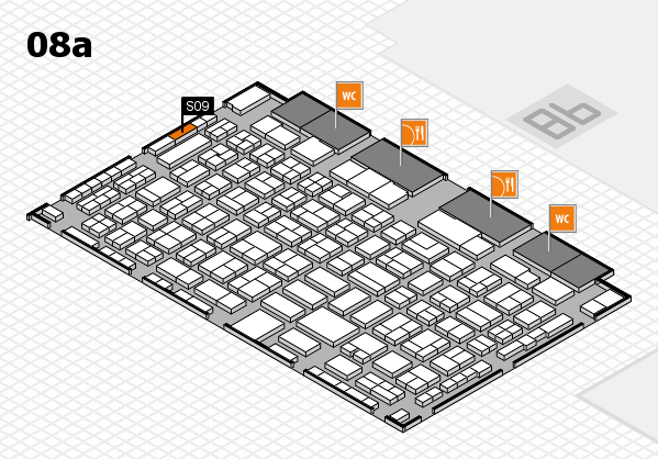 COMPAMED 2016 hall map (Hall 8a): stand S09