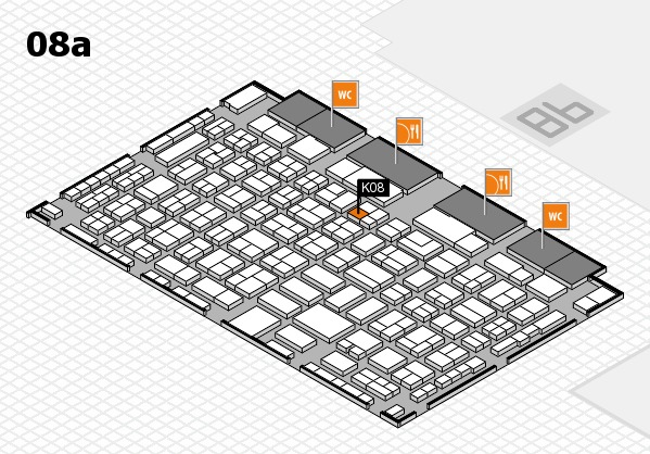 COMPAMED 2016 hall map (Hall 8a): stand K08