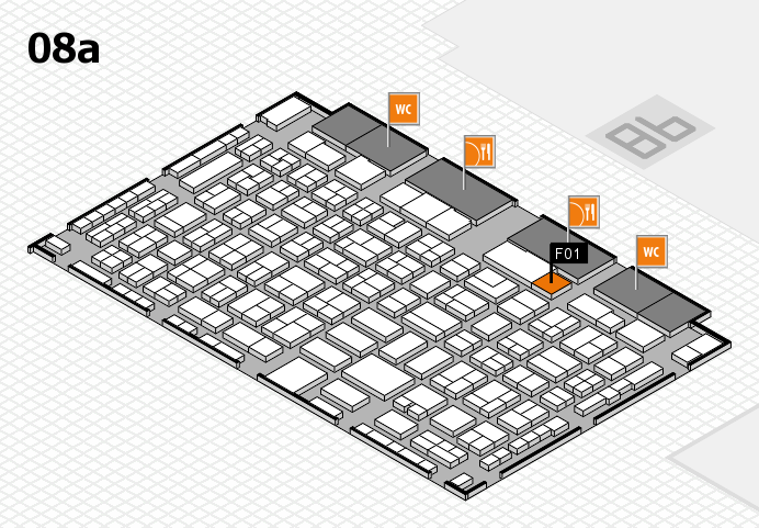 COMPAMED 2016 hall map (Hall 8a): stand F01