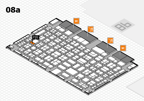 COMPAMED 2016 hall map (Hall 8a): stand P25
