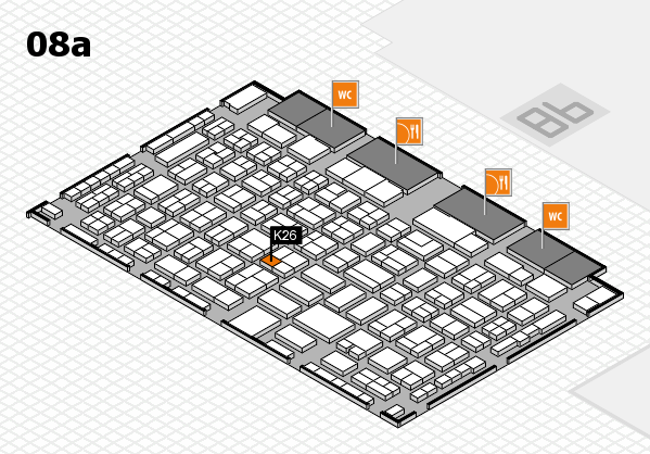 COMPAMED 2016 hall map (Hall 8a): stand K26
