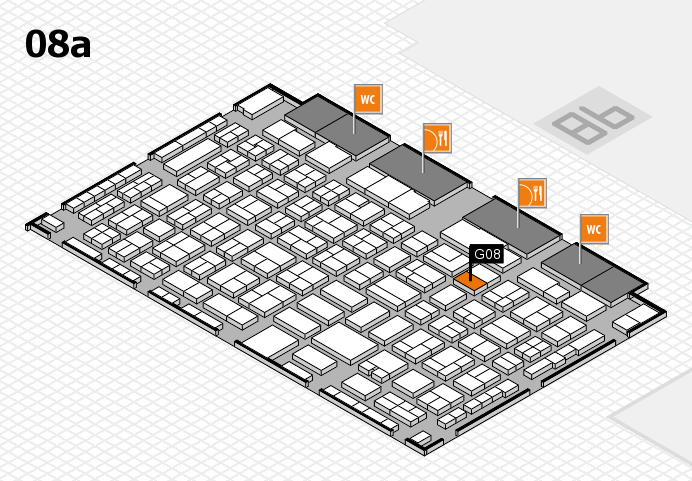 COMPAMED 2016 hall map (Hall 8a): stand G08