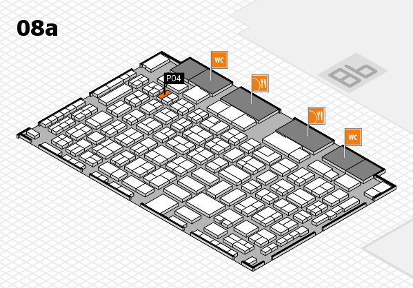 COMPAMED 2016 hall map (Hall 8a): stand P04