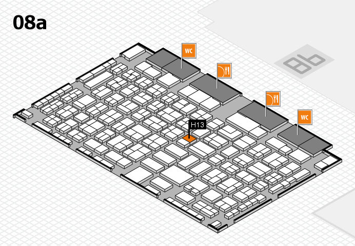 COMPAMED 2016 hall map (Hall 8a): stand H13