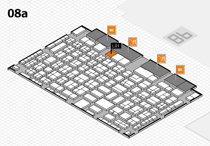 COMPAMED 2016 hall map (Hall 8a): stand L01