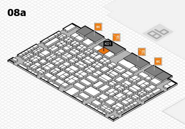 COMPAMED 2016 hall map (Hall 8a): stand K01