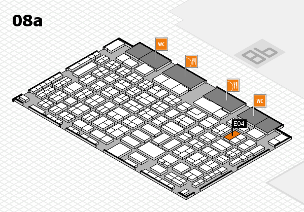 COMPAMED 2016 hall map (Hall 8a): stand E04