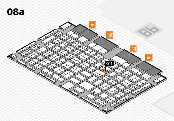 COMPAMED 2016 hall map (Hall 8a): stand G11