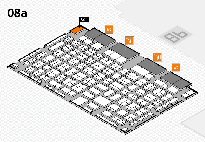 COMPAMED 2016 hall map (Hall 8a): stand S01