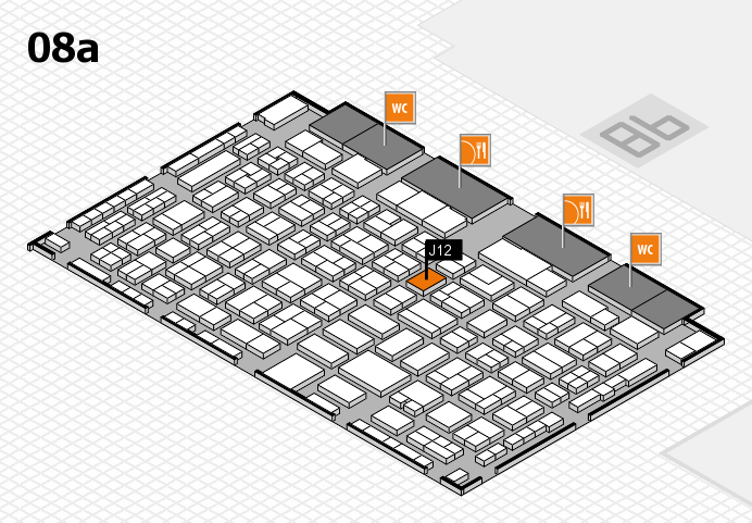 COMPAMED 2016 hall map (Hall 8a): stand J12