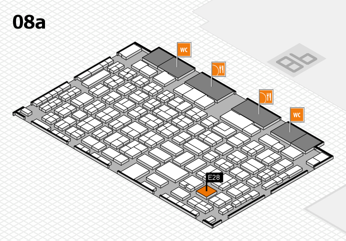 COMPAMED 2016 hall map (Hall 8a): stand E28