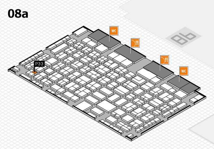 COMPAMED 2016 hall map (Hall 8a): stand P33