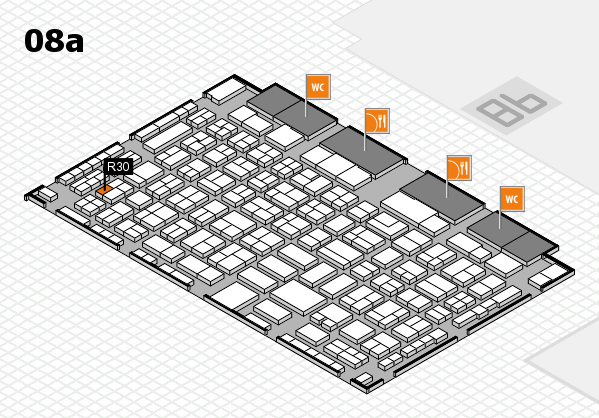 COMPAMED 2016 hall map (Hall 8a): stand R30