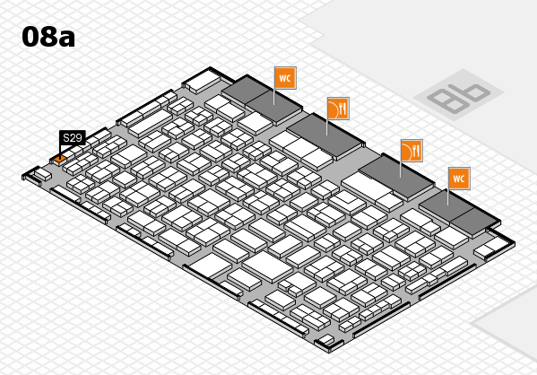 COMPAMED 2016 hall map (Hall 8a): stand S29