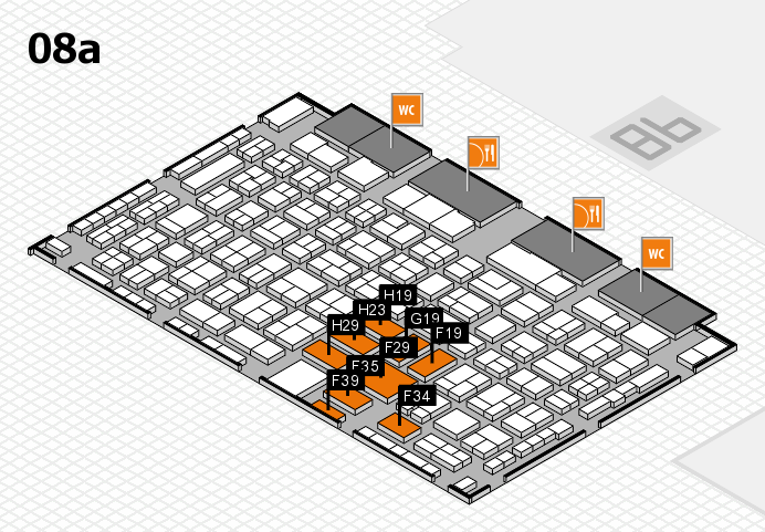COMPAMED 2016 hall map (Hall 8a): stand F19, stand H29