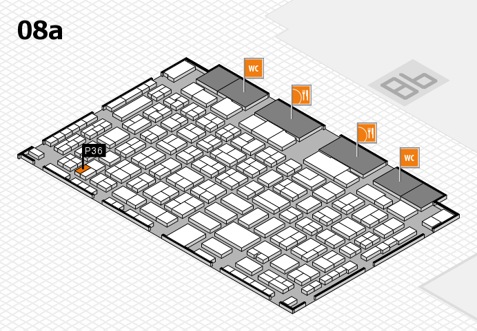 COMPAMED 2016 hall map (Hall 8a): stand P36