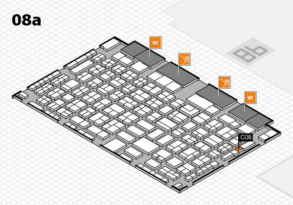 COMPAMED 2016 hall map (Hall 8a): stand C08