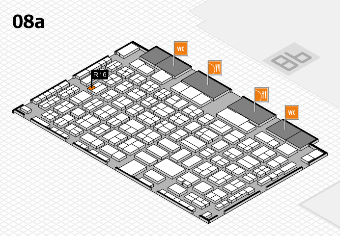COMPAMED 2016 hall map (Hall 8a): stand R16