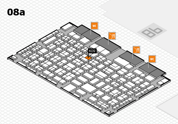 COMPAMED 2016 hall map (Hall 8a): stand K09