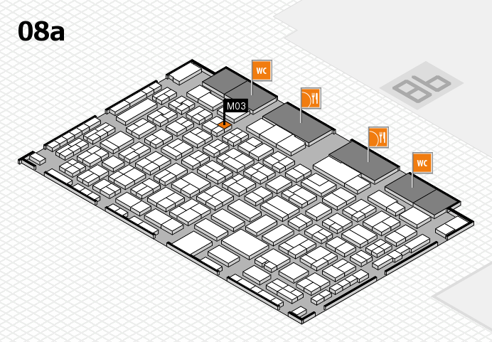 COMPAMED 2016 hall map (Hall 8a): stand M03
